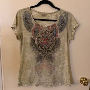 One World beaded top